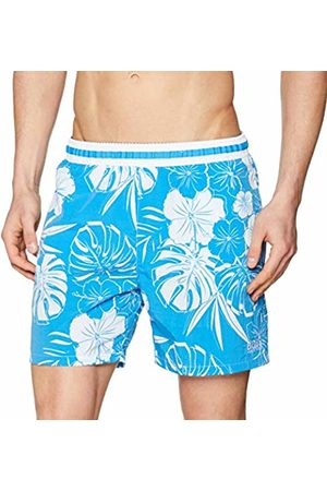 HUGO BOSS Men's Goldfish Swim Trunks, (Turquoise/Aqua 441)