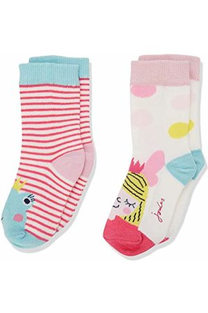 Joules Baby Girls' Neat Feet Socks, ( Frog Fairy Pinkfrgfry)