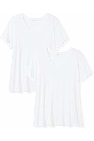 Daily Ritual Women's Plus Size Jersey Short-Sleeve V-Neck T-Shirt, 2-Pack