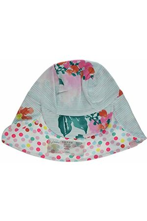 Joules Baby Girls' Sunny Hat (Aqua Floral Stripe Aqflrlstrp) Medium (Size: 6-12)