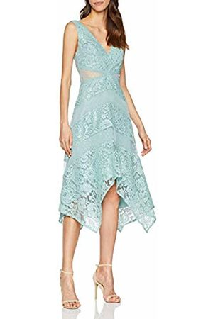 Little Mistress Women's Monet Lace Plunge Midaxi Dress Party Haze 001