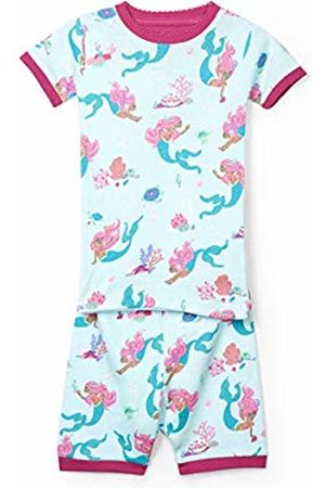 Hatley Girl's Organic Cotton Short Sleeve Printed Pyjama Sets, (Mermaid Tales)