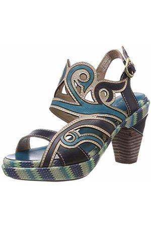 LAURA VITA Women's Ficnalo 01 Open Toe Sandals, Jeans
