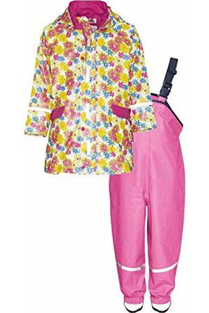 Playshoes Baby Girls' Matschanzug, Regenanzug, Regen-Set Blumendruck Rain Jacket, ( 1)