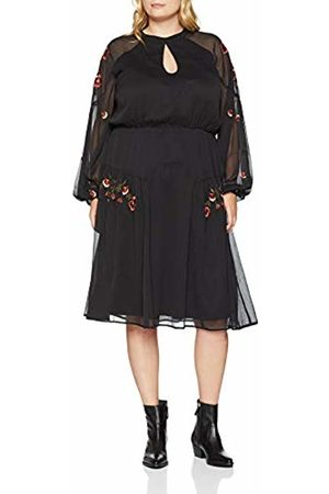 Lost Ink Women's Dress with Embroidery Detail 0001