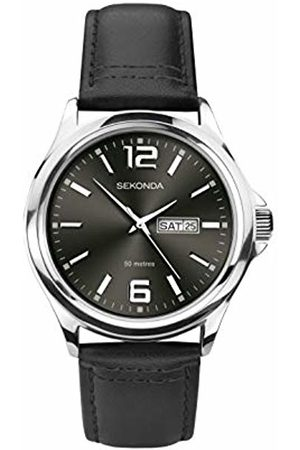 Sekonda Mens Analogue Classic Quartz Watch with Leather Strap 1655.27