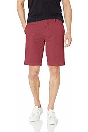 "Goodthreads Men's 11"" Inseam Flat-Front Stretch Chino Shorts, -burgundy"
