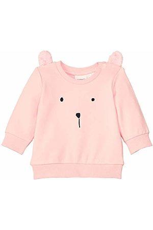 Name it Baby Girls' Nbfbeate SWE O-Neck Unb Sweatshirt, Strawberry Cream