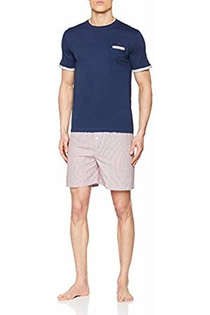 ALAN BROWN Men's Ah.True.psh1 Pyjama Set, Marine