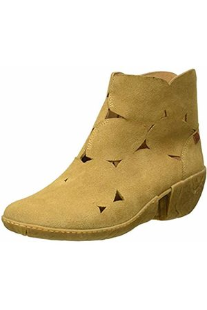 El Naturalista Women's N5483 Lux Suede Camel/Caliza Ankle Boots