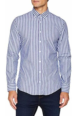 Seidensticker Men's Slim Langarm Mit Button-Down Kragen Soft Gestreift Smart Business Formal Shirt