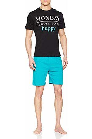 ALAN BROWN Men's Ah.Lund.psh Pyjama Set, Noir/Turquoise