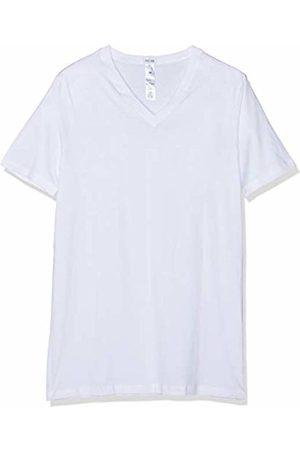 Hom Men's Essentiel T-Shirt Col V Mc X2 Vest, Blanc V001