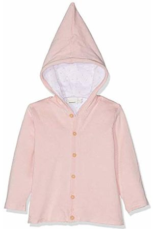 Name it Girls Winter Jackets - Baby Nbndesil Ls Knit Jacket Strawberry Cream