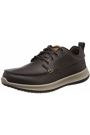 Skechers Men's DELSON-ELMINO Moccasins, Chocolate