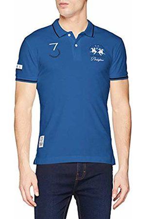La Martina Men's Man Polo S/s Piquet Stretch Shirt, (Victoria 07165)