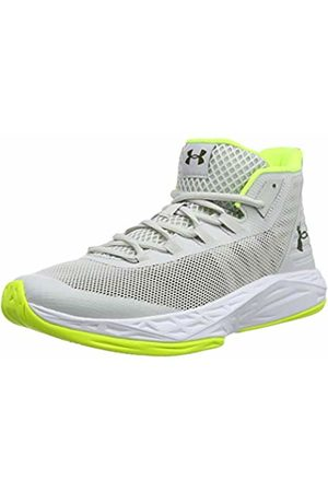 Under Armour Men's Jet Mid Basketball Shoes, (Gray Flux/ /High-Vis 106)