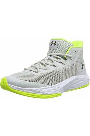 Under Armour Men's Jet Mid Basketball Shoes, (Gray Flux/ /High-Vis 106)