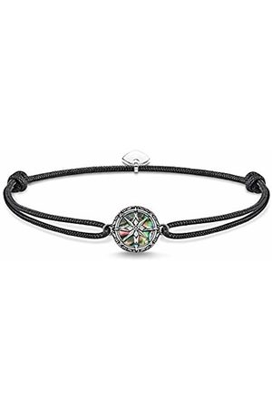 Thomas Sabo Unisex-bracelet Little Secret compass abalone mother-of-pearl 925 Sterling silver blackened LS085-907-11-L22v
