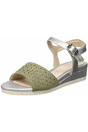 Stonefly Women's Cher 5 Velour/Laminated Ankle Strap Sandals