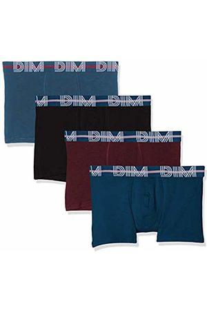 Dim Men's Boxer Powerful X4 Shorts, Klein/Aubergine Foncé/Noir/Gris Bleu 88p