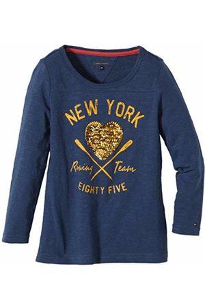 Tommy Hilfiger Girls Crew Neck Long - regular Sweatshirt - Blau (425 ENSIGN -PT) 18-24 months