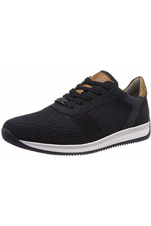 ARA Men's Lisboa 1136001 Low-Top Sneakers, Grau, Blau/Cognac 13