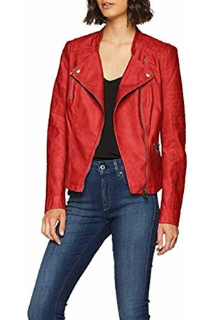 ONLY NOS Women's onlAVA Faux Leather Biker OTW NOOS Jacket, Rot High Risk