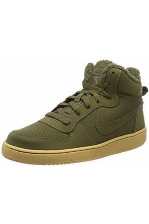 Nike Boys Court Borough Mid Wntr Gs Basketball Shoes, Olive Canvas/Gum Lt 300