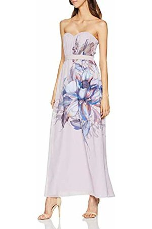 Little Mistress Women's Corina Floral Bandeau Maxi Dress (Dusty Blush 001)