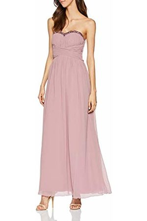 Little Mistress Women's Chandra Blush Sequin Trim Bandeau Maxi Dress (Dusty 001)