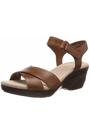 2f6f0dfc91e1d Clarks Lynette Deb Leather Sandals in Mahogany Standard Fit Size 8