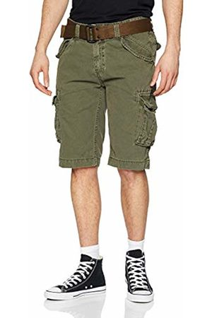 Schott NYC Men's Trbatle30pkr Swim Shorts, Olive