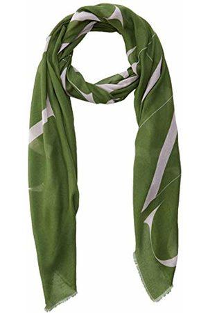 Trussardi Jeans Women's Pashmina Print Logo Micromodal (G260/Military/Rose G260)