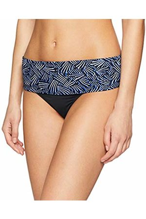 Pour Moi Women's Odyssey Fold Over Brief Bikini Bottoms, Thunderstorm