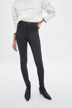 Zara High waist houndstooth leggings