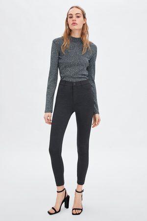 Zara Buttoned high waist leggings