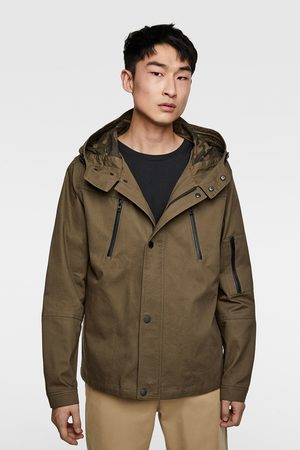 Zara Hooded parka with zips
