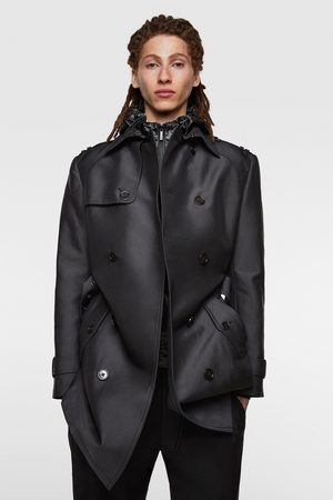 Zara Double-breasted trench coat with satin finish