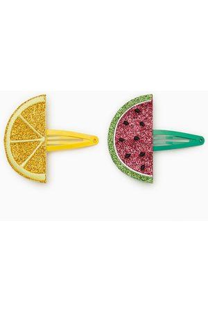 Zara Pack of two shimmer fruit hair clips
