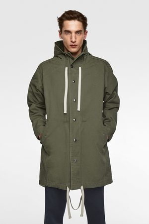 Zara Parka with contrast interior