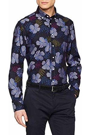 Seidensticker Men's Slim Langarm Mit Button-Down Kragen Soft Blumendruck Formal Shirt