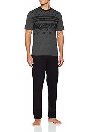 Freegun Men's Ah.fgsta.py.mz Pyjama Set, Gris Chiné/Noir