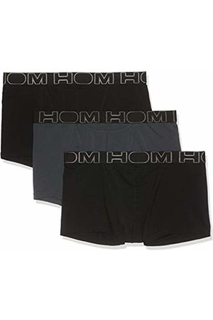 Hom Men's Essentiel Boxer Ho1 X3 Swim Trunks, Noir/Gris V001