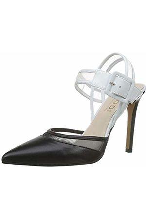 Lodi Women's Verax-MUL Ankle Strap Heels, Glove Negro