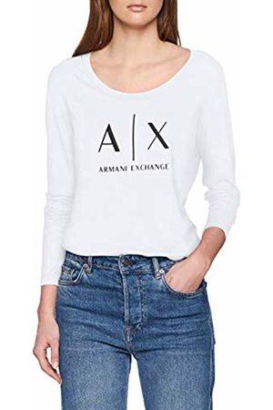 Armani Women's Logo Ls T-Shirt, (Optic 1000)