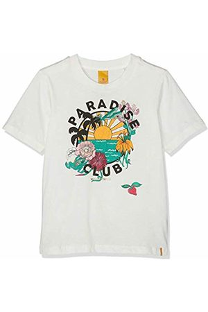 Scotch&Soda R´Belle Girl's Relaxed Fit Short Sleeve Tee with Colourfull Artwork Sports Tank Top, ( 001)