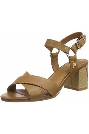 Tommy Hilfiger Women's Elevated Leather Heeled Sandal Platform