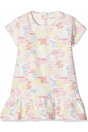 Noppies Baby Girls' G Dress ss Rotonda str Mehrfarbig (Flamingo P016)