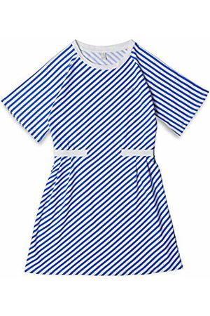 Esprit Kids Girls' Knit Dress STRI Blau (Infinity 422)